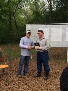 Charles Garvey presented with the 1st Place Hunter Class award
