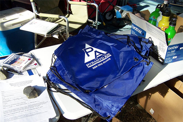 The Pyramyd Air goody bags handed out to all competitors