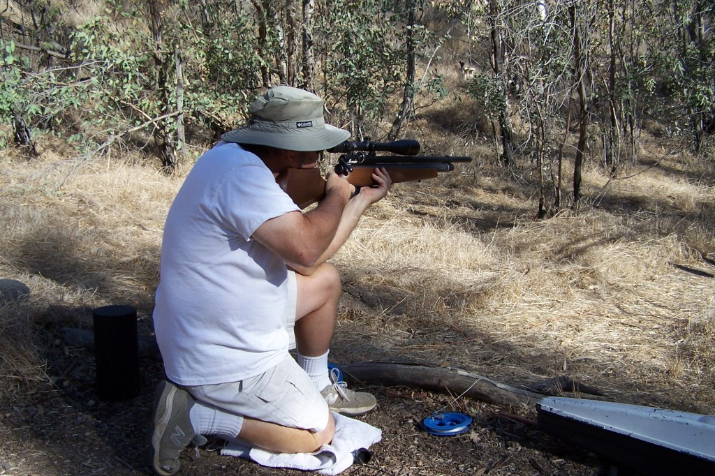 Mark Woss shooting a Marauder