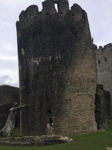 The leaning tower at caerphilly castle