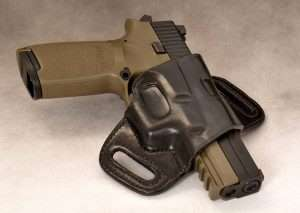 The P250 ASP fits most P250 holsters including this Galco Quick Slide belt holster.