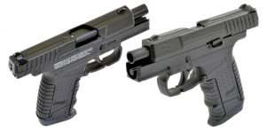 Blowback action gives the new Walther air pistols a realist shooting experience as they require racking the slide to chamber the first BB and after the least round is fired the slide locks back (as shown).