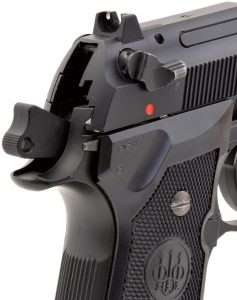 The Beretta Model 93R-inspired selector switch has settings for single action and burst fire.