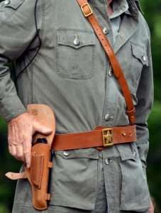 The Gletcher TT perfectly fit inside a reproduction of the original Tokarev military holster used by Russian officers.