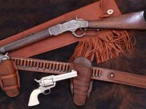 Back in the days of the Old West Cowboys often carried a Colt Peacemaker and a Winchester lever action rifle that used the same cartridges.