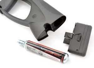 The Umarex CX4 Storm is a powerful airgun using an 88-gram CO2 cartridge to deliver velocities from 450 to 600 FPS.