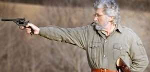 The author tested the Webley Mk VI air pistol at a range of 21 feet.