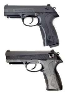 Nearly identical to the 9mm PX4 Storm model (bottom) the Umarex PX4 Storm has some notable differences.