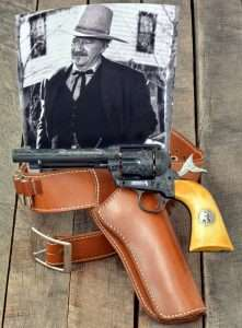 John Wayne's last film was not the first in which he used his own Colt revolvers, but it was the first time that they were engraved guns. The Limited Edition Umarex Colt Shootist model is hand engraved in the same pattern as the Duke's own guns from the film.