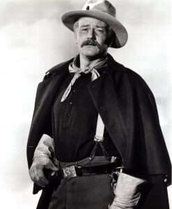 One of his most challenging and best performances ever was in 1949's She Wore A Yellow Ribbon, where Wayne played a much older character, Cavalry Captain Nathan Brittles.