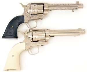 Colt Peacemakers (a copy of Bat Masterson's 5-/12 Colt SAA top) and the Umarex Colt .177 caliber air pistols both use a forcing cone at the back of the barrel to create the seal between the front of the top cylinder chamber and barrel breech. Again, this is the point where barrel length measurements begin.