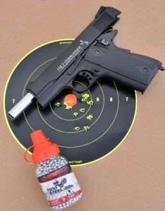The Colt's best average 10-shot group measured 1.875 inches.