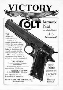 Colt was not shy about having its new 1911 adopted as the official sidearm of the U.S. military in 1911.