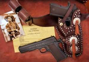 Although the majority of Colt Model 1911s were delivered to the U.S. government between 1911 and 1915, by then the new .45 ACP semiautomatic pistols were already appearing in then custom built holsters of lawmen, including Texas Rangers. Take a close look at the holster and gun in the photo of Ranger Ed DuBose taken in 1915. The Tanfoglio Witness, even with the later c.1924 arched mainspring housing fits nicely in a copy of a western holster made in the early 1900s for a Colt Model 1911.