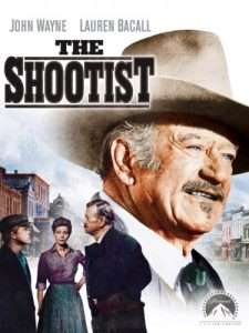 "As J.B. Books in ""The Shootist"" which was released 40 years ago this past August, John Wayne created one of the most memorable roles, which also happened to help launch the big screen career of Ron Howard (shown at left in this movie poster with Lauren Bacall and John Wayne."