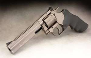 The CO2 powered Dan Wesson Model 715 from ASG (which has the brand name licensing rights) is offered in several versions, but two in the original Model 715 configuration with the correct crane-mounted cylinder latch and a 6-inch barrel.