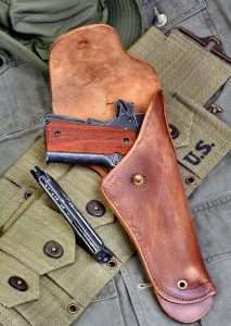 The John Wayne 1911A1 fits all standard WWII era military holsters.