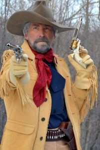 Two guns, twice the trouble back in the day. Carrying different barrel length revolvers was common especially among lawmen and outlaws, with shorter barrels for close in work and the long gun for distance.