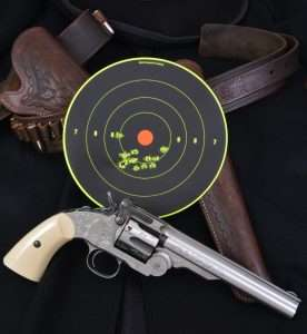 The .177 caliber BB cartridge Schofield managed a best 6-shot group measuring 0.875 inches across the 9 and 10 rings. All 12 rounds covered 2.28 inches.