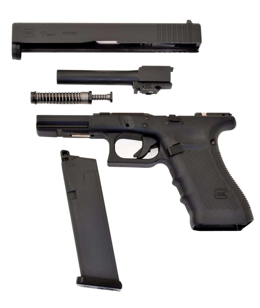 Z repliko lahko vadimo razstavljanje in sestavljanje pravega Glocka.