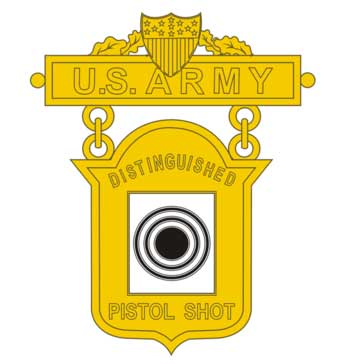 Army Distinguished Pistol Shot badge