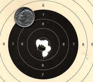 Beeman P1 air pistol RWS R10 pellets target 2
