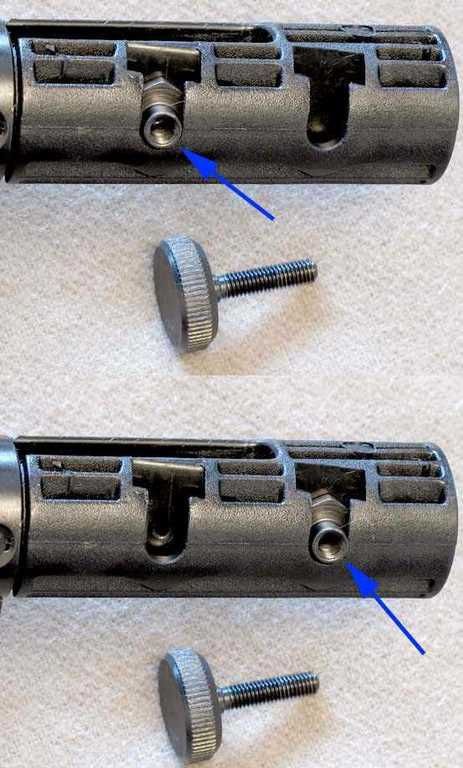 IZH 60 Target Pro air rifle stock adjustment screw anchor