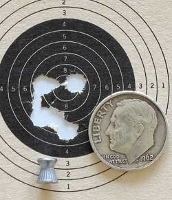 IZH 60 Target Pro air rifle RWS Hobby target