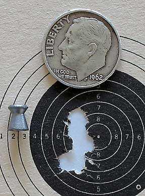 IZH 60 Target Pro air rifle HN Pistol Match target