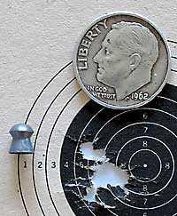 IZH 60 Target Pro air rifle JSB Exact RS target1