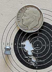 IZH 60 Target Pro air rifle JSB Exact RS target2