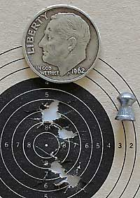 IZH 60 Target Pro air rifle RWS Superdome target