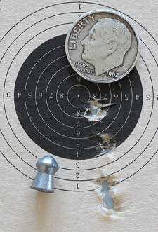 Cometa Lynx V10 precharged air rifle Beeman Kodiak target