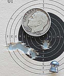 Cometa Lynx V10 precharged air rifle Crosman Premier target
