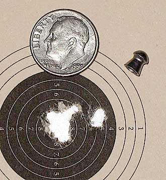 Air Venturi Tech Force breakbarrel air rifle 10 meter group Beeman Trophy pellets