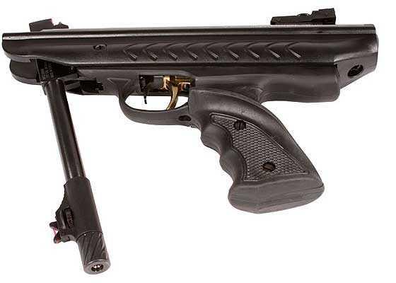 Hatsan model 25  Supercharger breakbarrel air pistol broken open