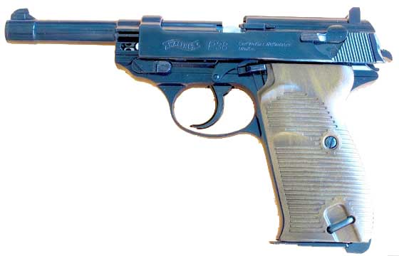 Walther P38 CO2 BB pistol slide release