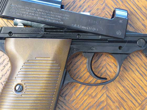 Walther P38 BB pistol slide coming off