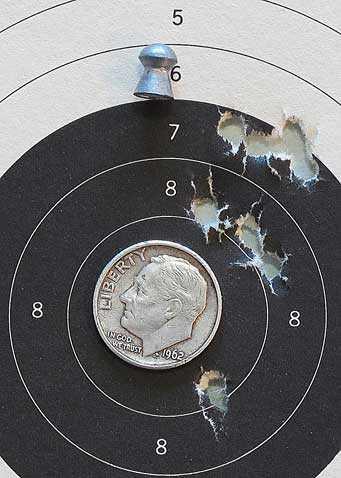 Hatsan Supercharger breakbarrel air pistol target 1
