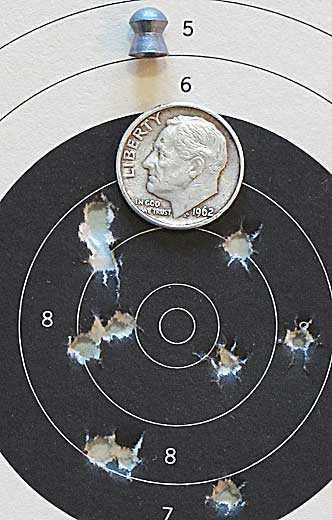 Hatsan Supercharger breakbarrel air pistol target 3