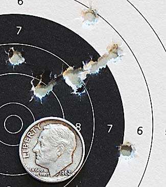 Hatsan Supercharger breakbarrel air pistol target 4