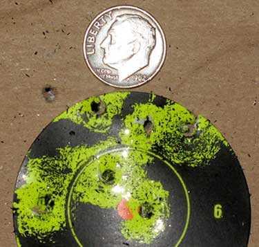Winchester 16 shot BB pistol second target