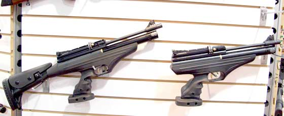 Hatsan PCP pistol and carbine