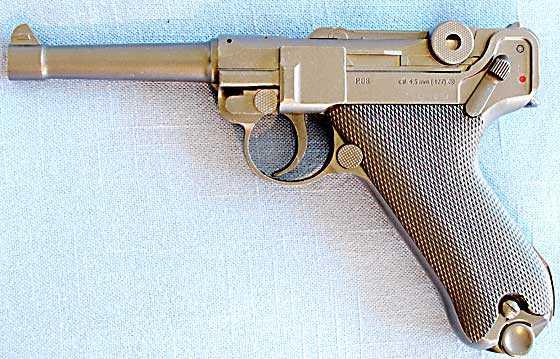 Umarex P-08 BB pistol left