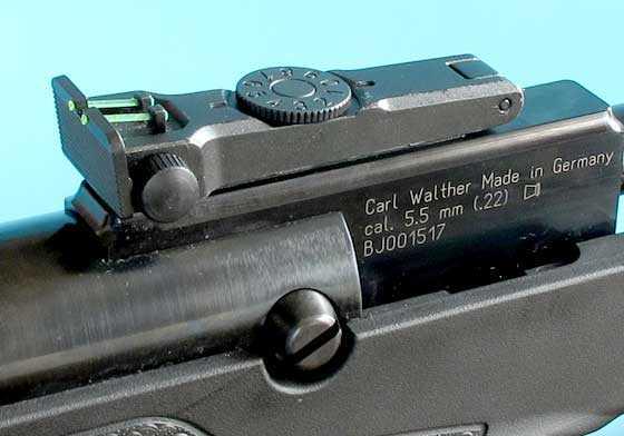 Walther LGV Challenger breakbarrel air rifle rear sight