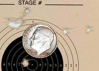 Tech Force M12 breakbarrel air rifle 25-yard target