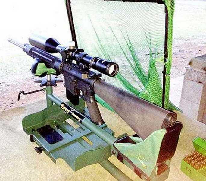 AR-15 on range in downpour