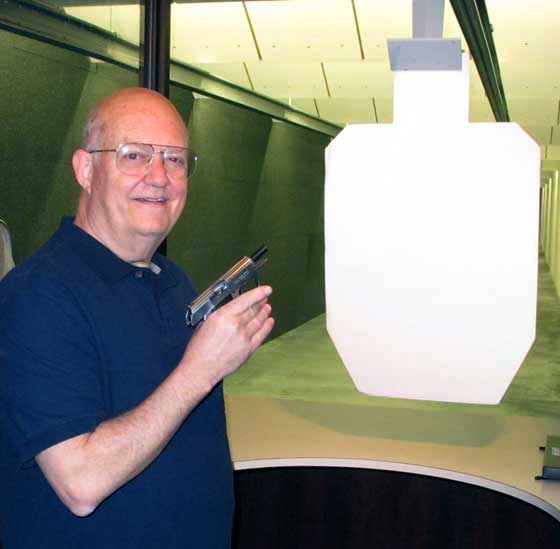 Tom on indoor range at Umarex USA
