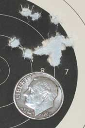 Walther LGV Challenger breakbarrel air rifle JSB Exact Jumbo Express group 25 yards