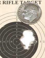 Walther LGV Challenger breakbarrel air rifle JSB RS group 25 yards